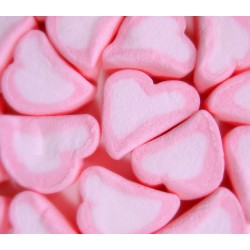 Heart Shaped mini Pink and White Marshmallows