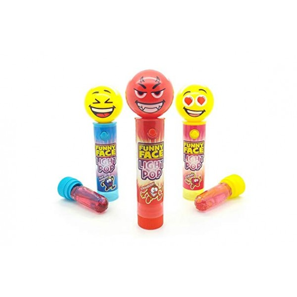 FUNNY FACE LIGHT POPS PARTY PACK
