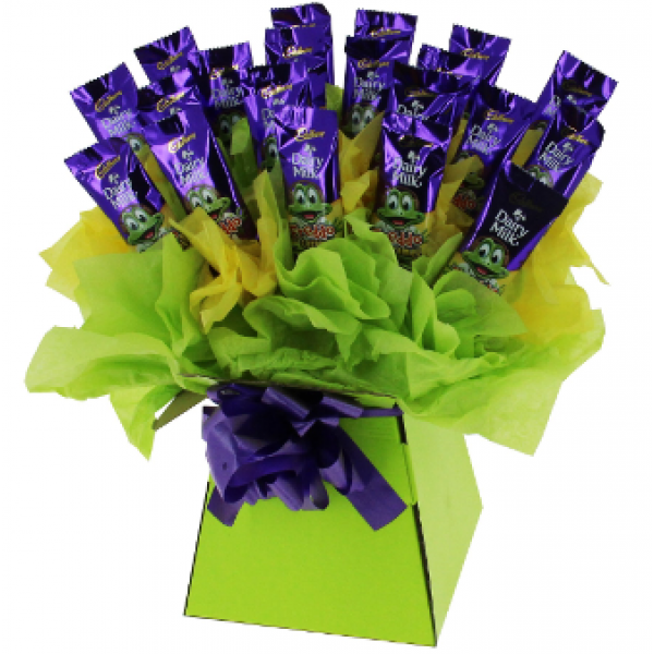 Freddo Bouquet with personalised message on a card