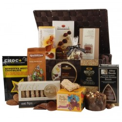 Brown Woven Luxury Gift Hamper with personal message