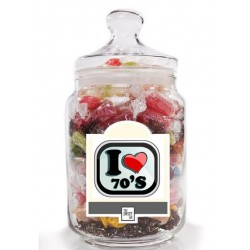 I Love the 70's Sweet Jar