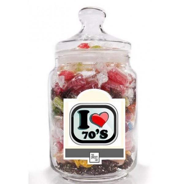 I Love the 70's Sweet Jar