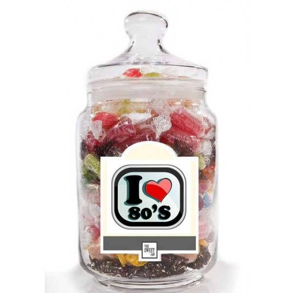 I Love the 80's Retro Sweet Jar
