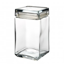 1.5 Litre Square Glass Jar