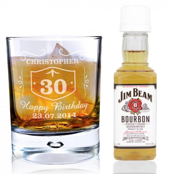 Whiskey Style Glass & Bourbon