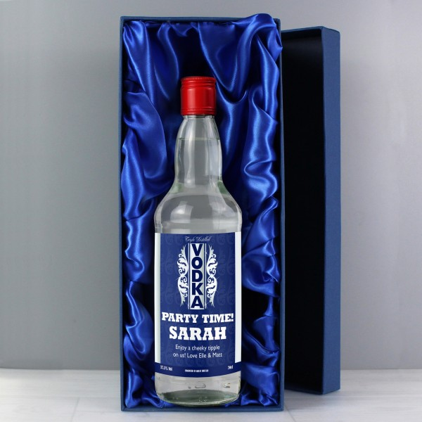 Blue & Silver Stripe Vodka with Gift Box