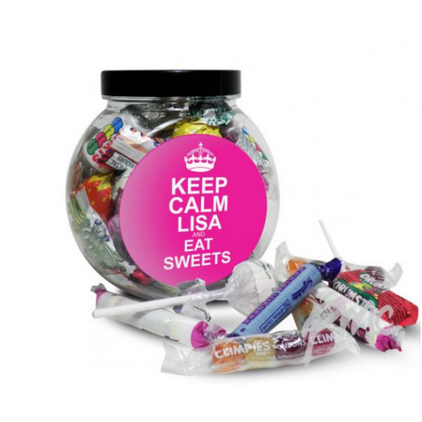 Pink Round Keep Calm Sweet Jar