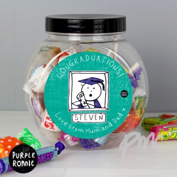 Purple Ronnie Male Graduation Sweet Jar