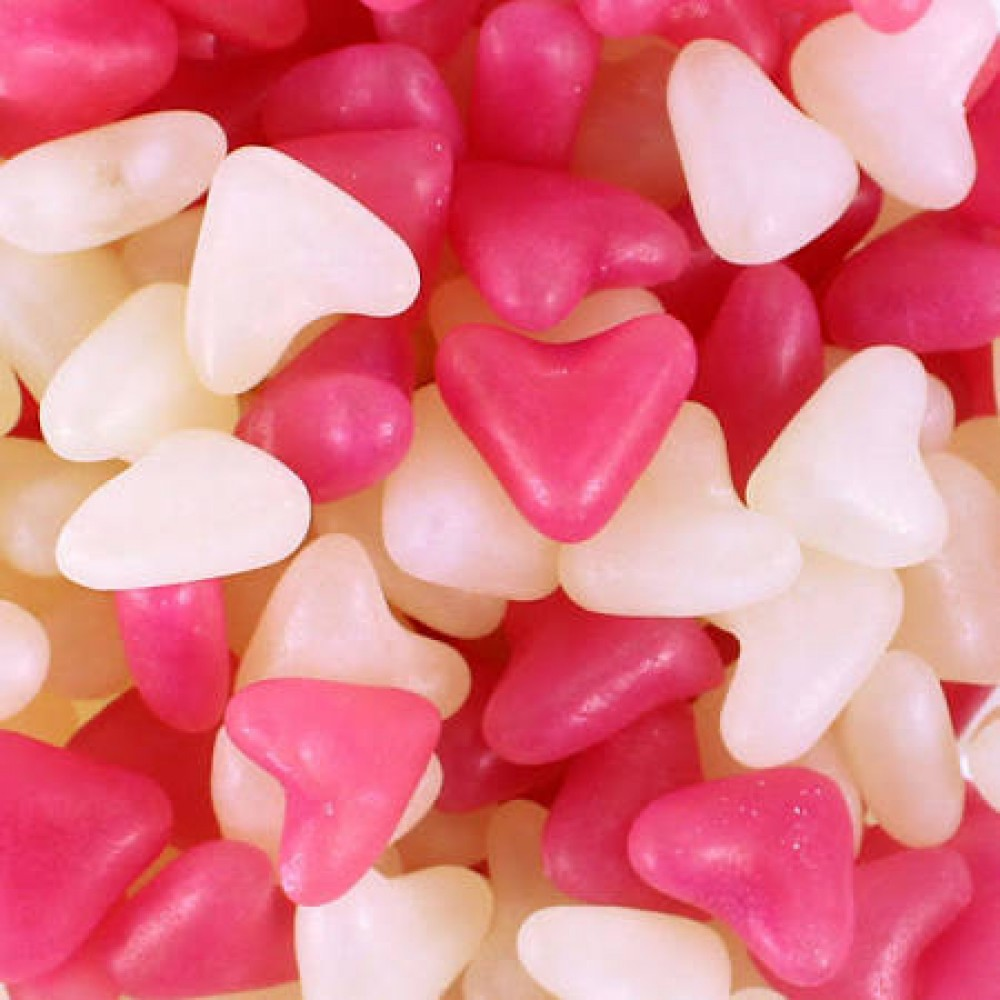 Barrett Pink and White Jelly Bean Hearts