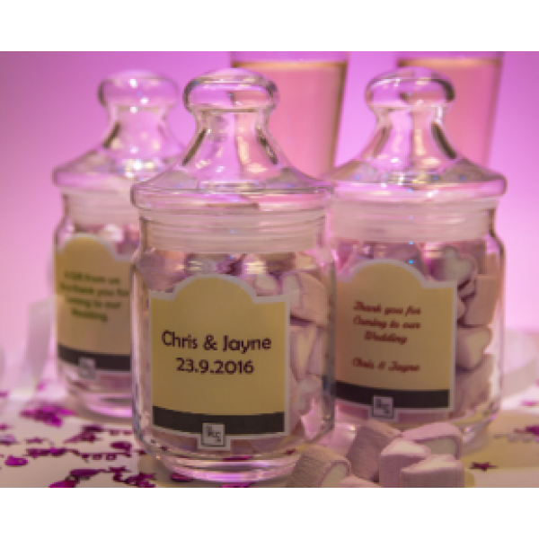 Wedding Favour Jars  - set of three
