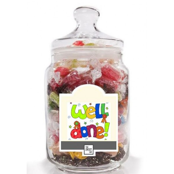 Well Done Jar of Retro Sweets